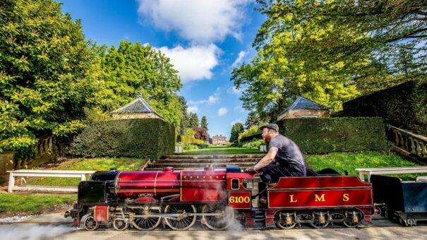 Newby Hall train for visitors