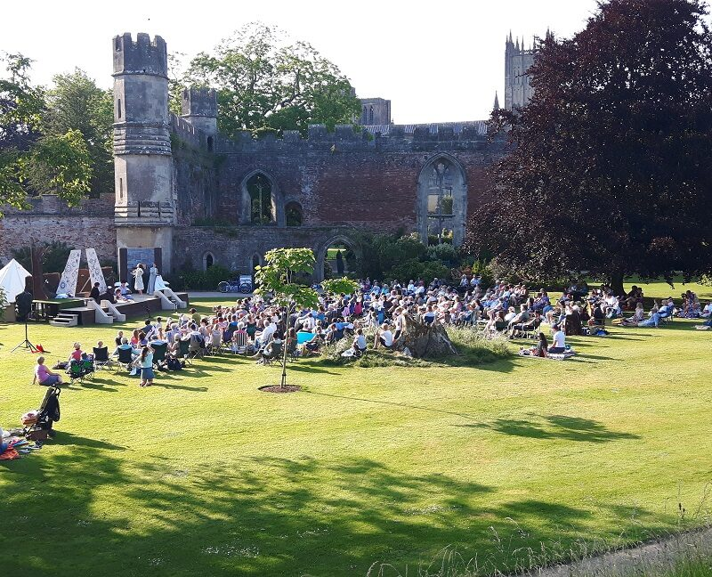 Outdoor Theatre South Lawn at The Bishop's Palace