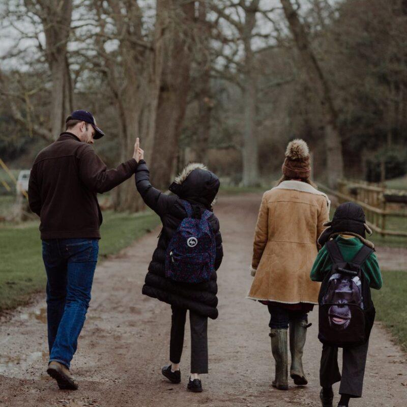 Powderham Castle Charlie, AJ and family