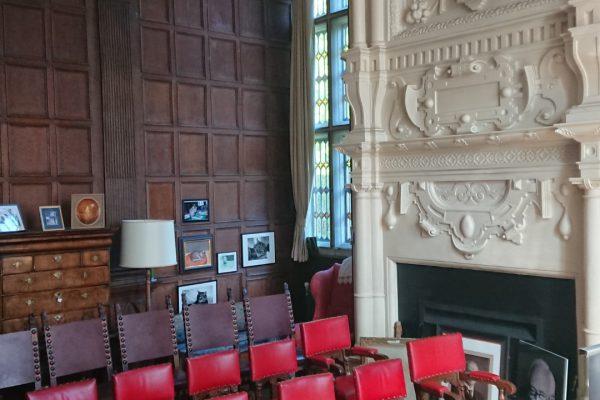Set Up for Talk in Study, The Hall Bradford on Avon