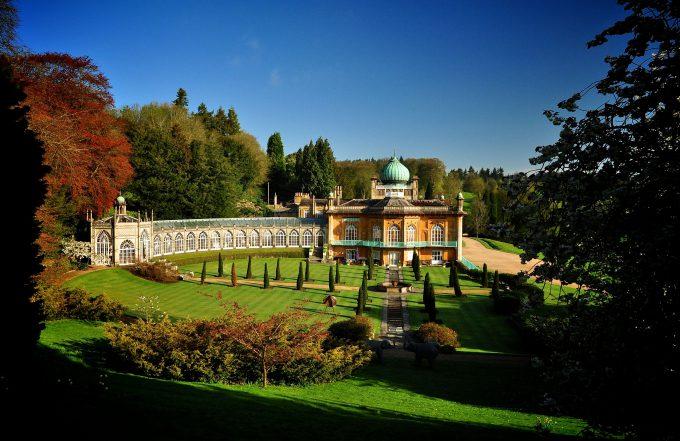 Sezincote historic oriental garden in Gloucestershire