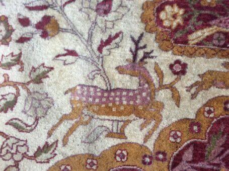 Silk rug of Broadward Hall deer