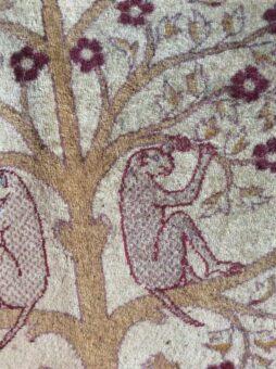 Silk rug of Broadward Hall monkeys on the trees