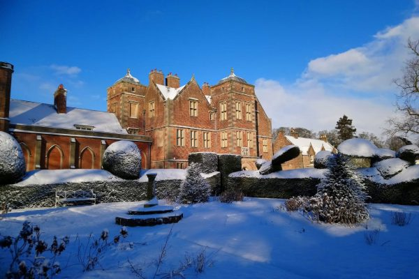 Snow covers Kiplin Hall in North Yorkshire in 2021