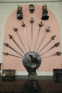 Sword wall display Penshurst