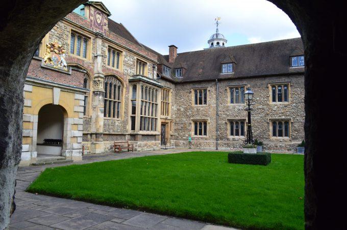 The Charterhouse London courtyard