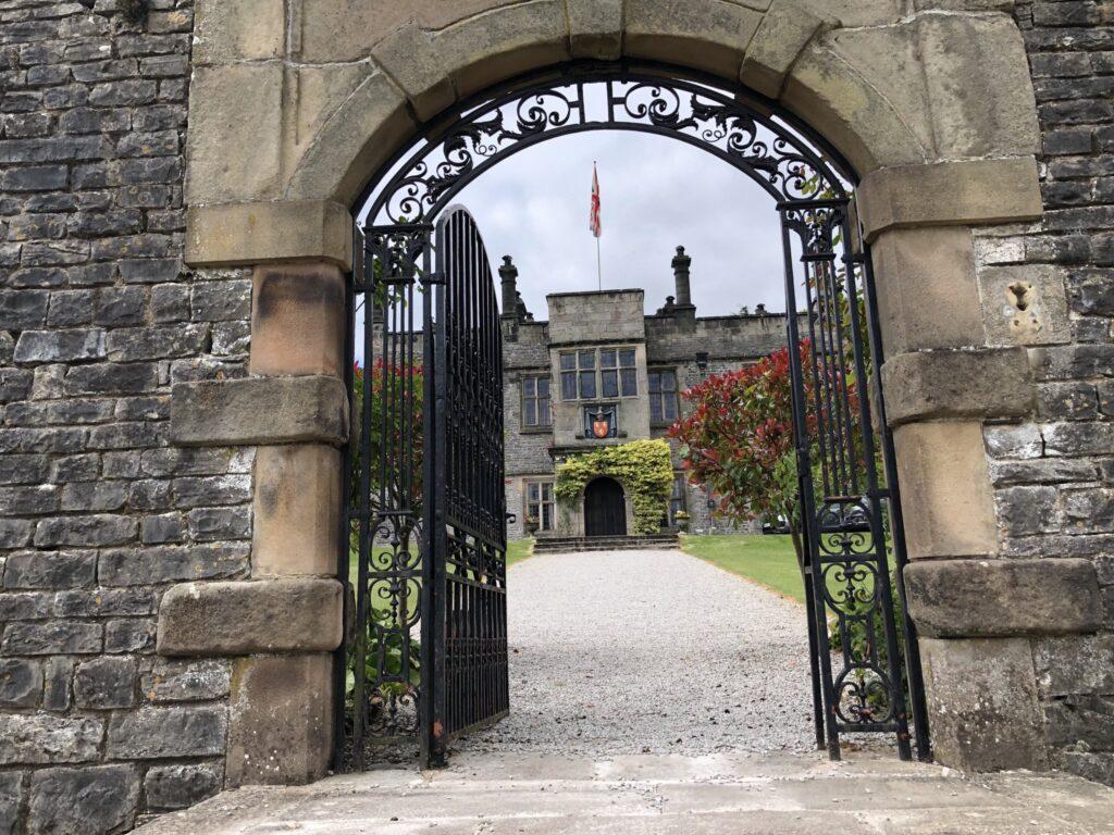 Tissington Hall through the gate