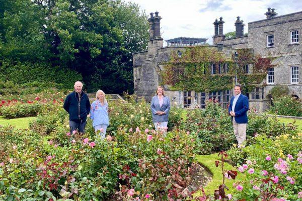 Tissington Hall garden visit by MP Nigel Huddleston