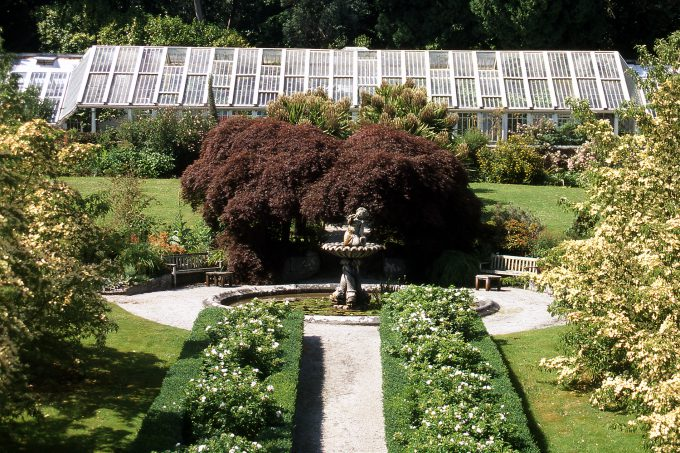 Tregrehan House in Cornwall greenhouse