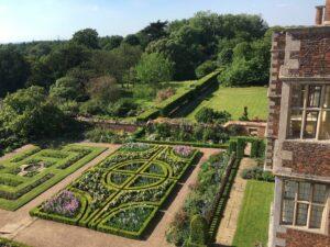 Doddington Hall gardens from above