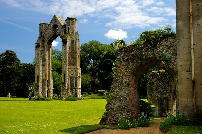 Walsingham Abbey ruin in Norfolk