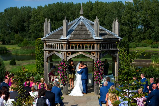 Wedding Ceremony Outside The Old Hall, Ely, Cambridgeshire