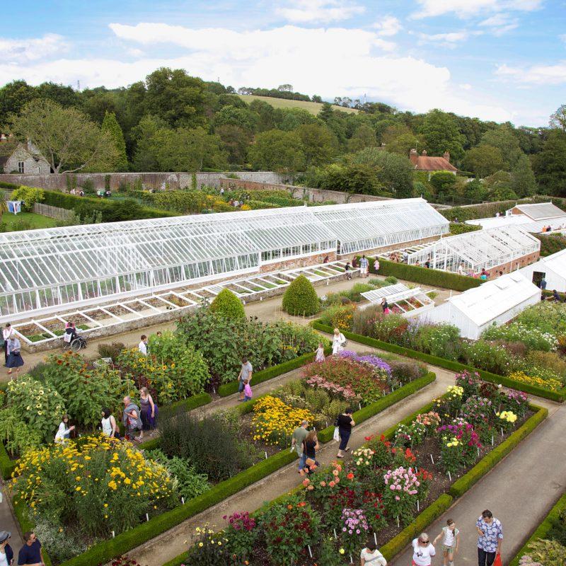 West Dean Gardens Walled Garden and Glasshouses