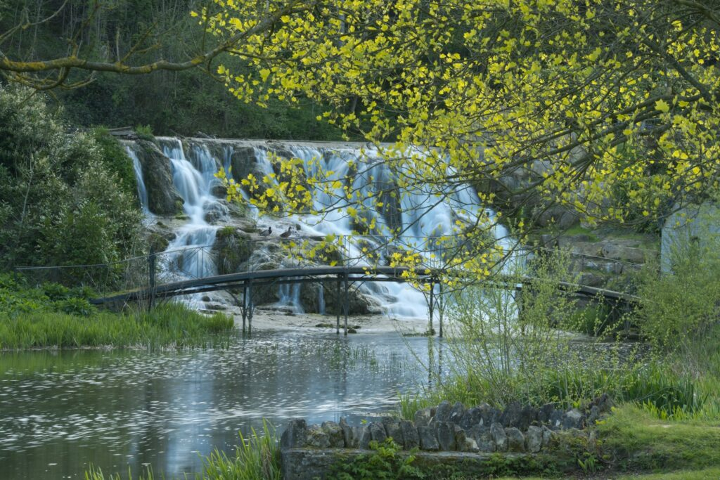 Blenheim Palace waterfall