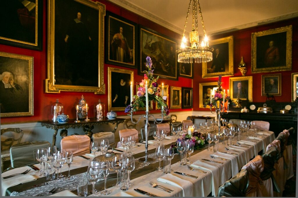 Browsholme Hall dining room