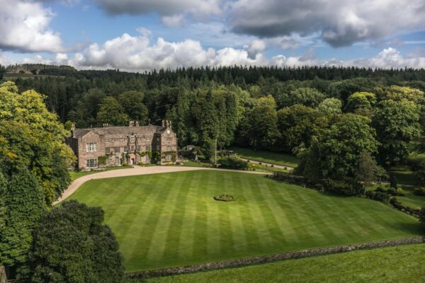 Browsholme Hall overhead view by Edmund Parker