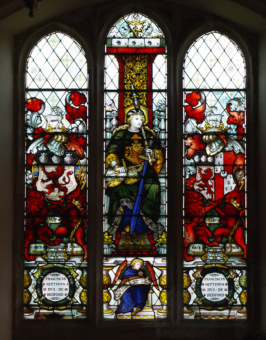 Chenies Manor House stained glass