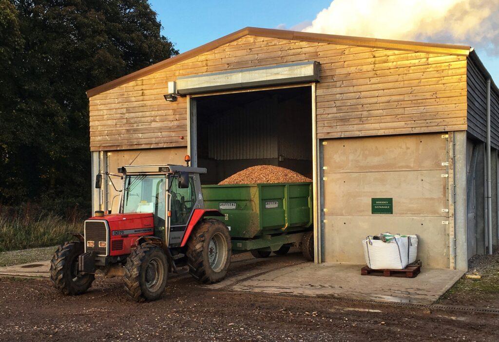 Delivering Chip Biomass October-2019 at Miserden
