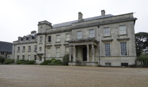The entrance to Lamport Hall