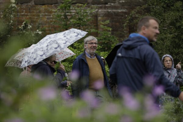 Visitors in the garden at Middleton Hall