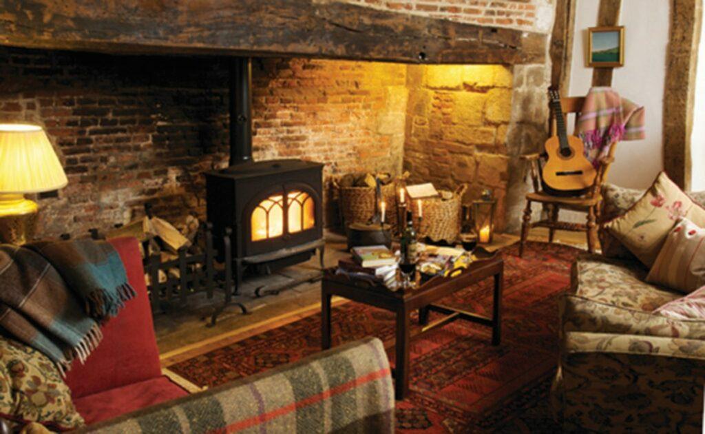 Historic fireplace