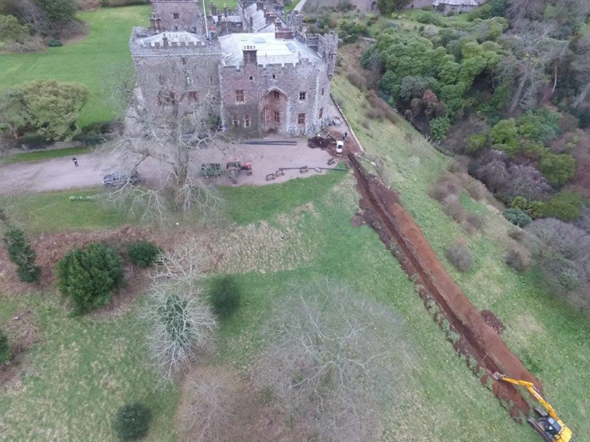 Muncaster Castle excavations