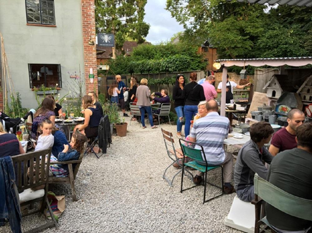 The Courtyard Café (pre-pandemic) Deans Court