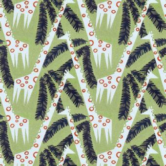 Warner Textile Archive Giraffes fabric