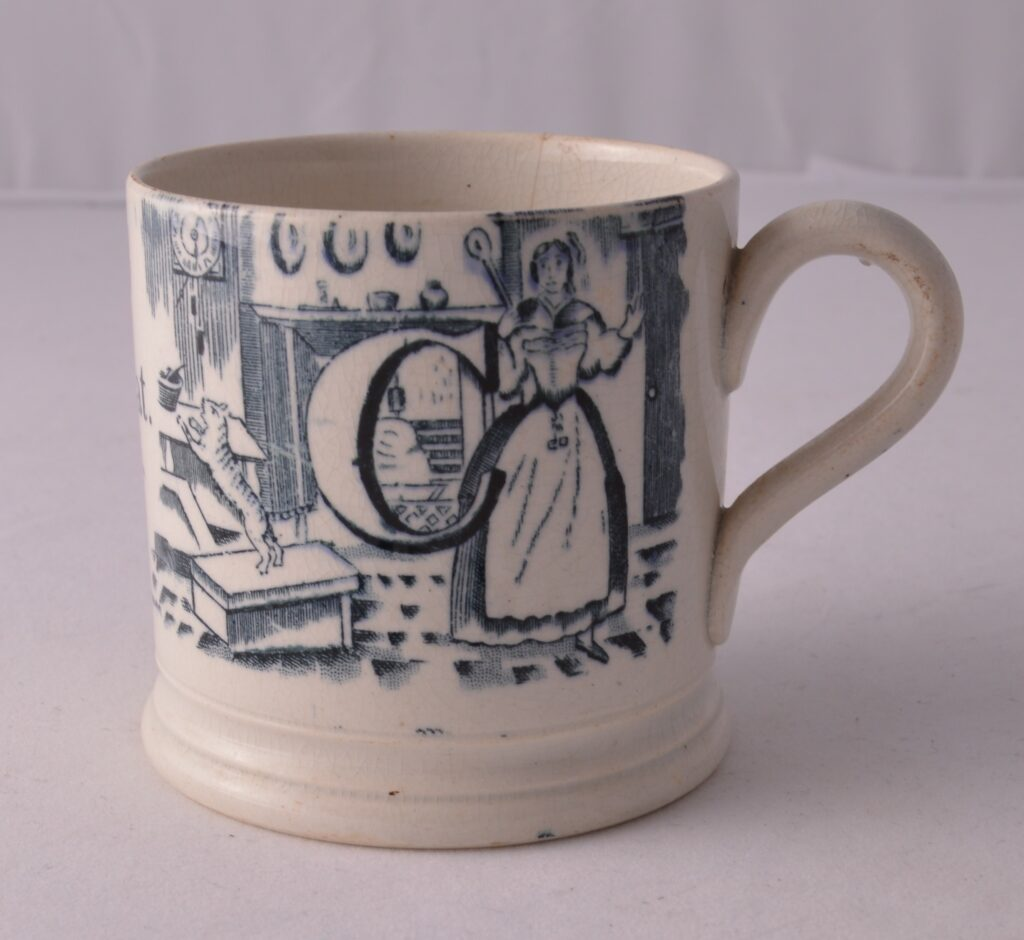 This quaint mug features in the new exhibition at Kiplin Hall and Gardens.