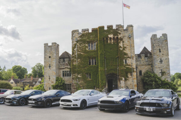 Cars at Hever Castle