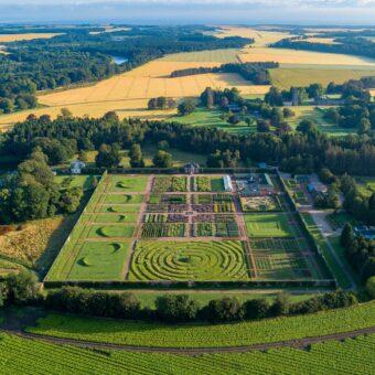 Gordon Castle Walled Garden from above