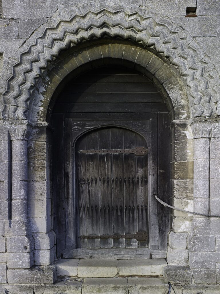 Hedingham Castle old door