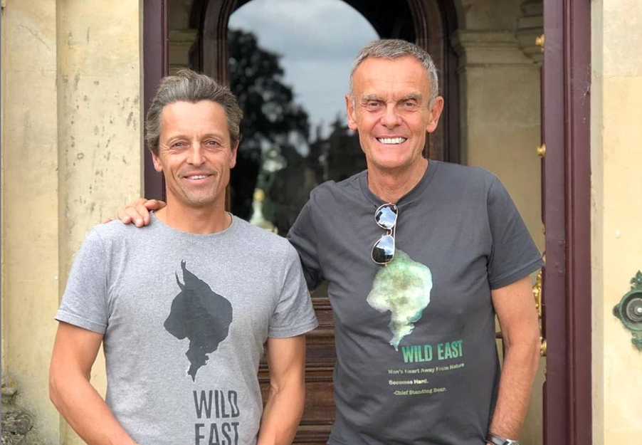 Hugh Somerleyton in 2020 with Paul Lister, founder of the European Nature Trust