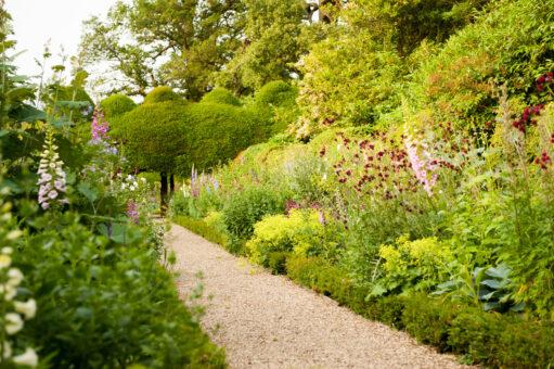Rose path at Kelmarsh Hall
