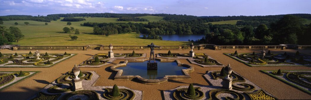 Terrace and landscape at Harewood credit Harewood House TRust