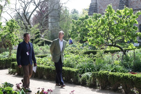 HRH The Earl of Wesses and James Cross at The Bishop's Palace