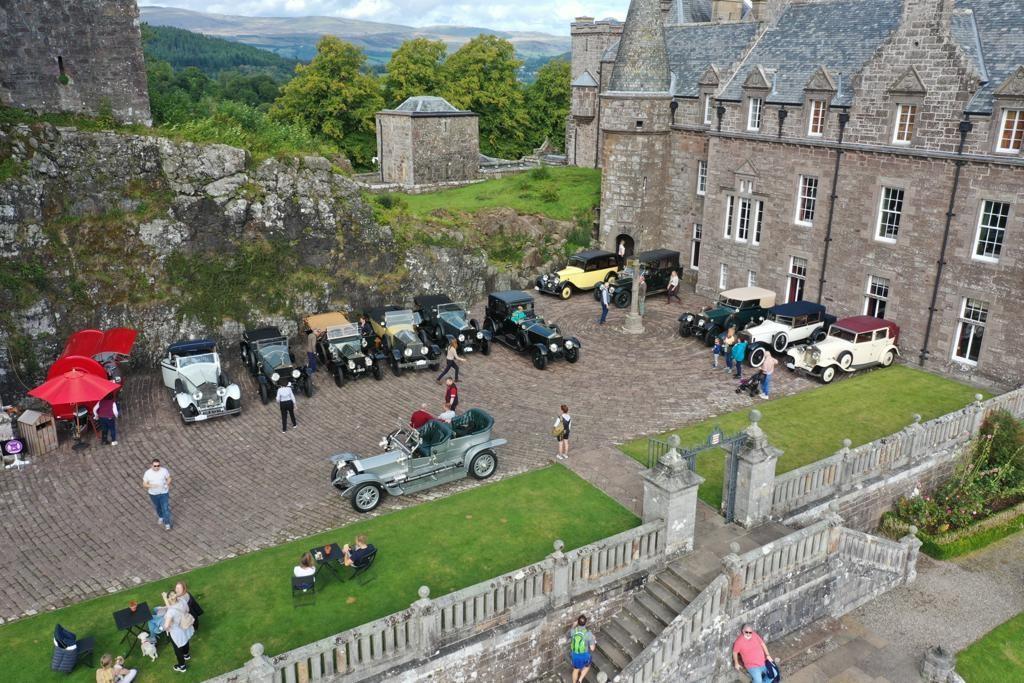Drummond Castle overhead drone shots September 2021 2