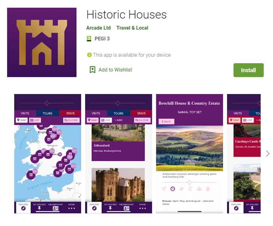Historic Houses App Play Store